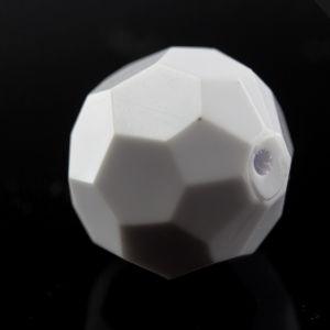 12mm Facettenperle in weiß