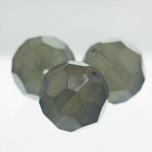 25mm Facettenperle in quarzgrau