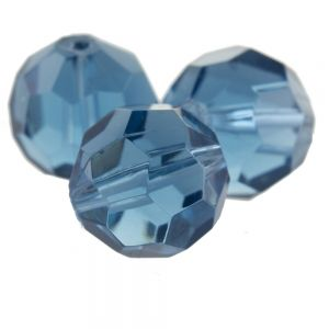 12mm Facettenperle in alpengrau blau