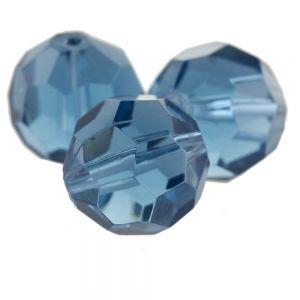 8mm Facettenperle in alpengrau blau