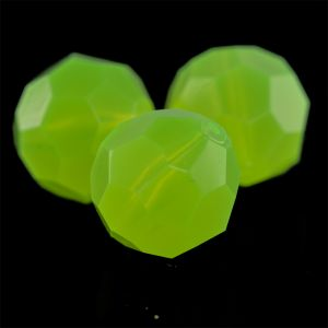 16mm Facettenperle in neon gelb