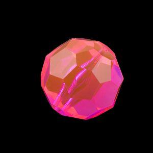 32mm Facettenperle in neon pink
