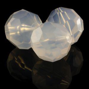 25mm Facettenperle in iride Weiß
