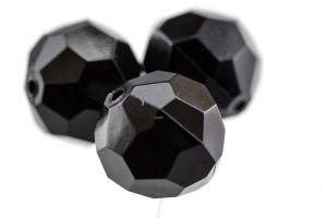 5mm Facettenperle in schwarz