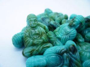 25x18 Sitzender Buddha in türkis