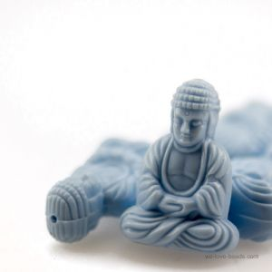 25x18 Sitzender Buddha in Traumblau