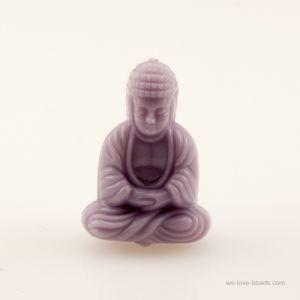 25x18 Sitzender Buddha in Pastellviolett