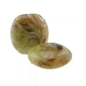 25x25 Kissenperle  in grünbraun