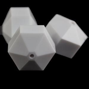 22x18 hexagon Rad  facettiert in weiß