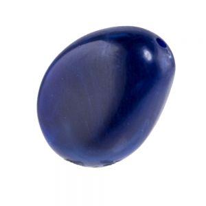 18x14 flachgedrückte Barockperle in lapis blau