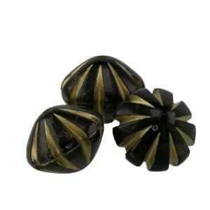 11x14 raute mit streifen in schwarz  mit Gold