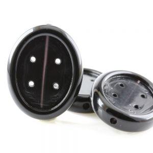 39x31 Fädelrahmen doppelseitig oval in schwarz