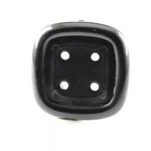 33x33 Fädelrahmen doppelseitig rechteck in schwarz