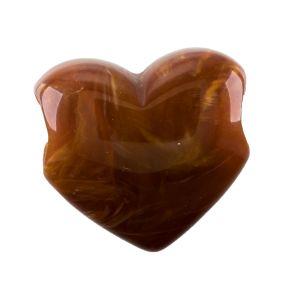 36mm Herz großloch in rotbraun