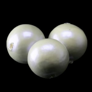 18mm Paper mache perle in hell grau AB