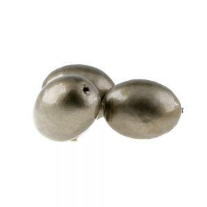 28x22 Paper mache perle oval in wolfsbraun metallic