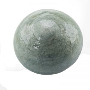 24mm Paper mache cabochon in wolkenblau cotton
