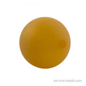 10mm Polaris Perle  in Safrangelb matt