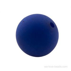 10mm Polaris Perle  in kobaltblau matt