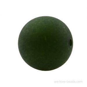 8mm Polaris Perle  in schwarzwald grün  Matt