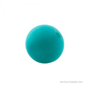 12mm Polaris Perle  in türkisblau  Matt