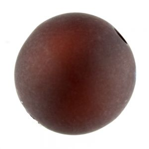 12mm Polaris Perle  in Kastanienbraun  Matt
