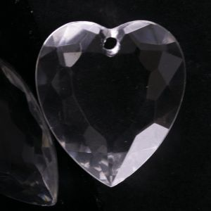 36x32 Facetten herz anhänger in kristall