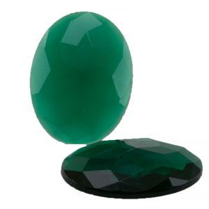 40x30 Flachboden oval in grün