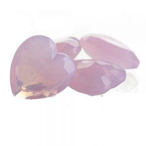 15x14 Herz körperstein in lavendel rosa