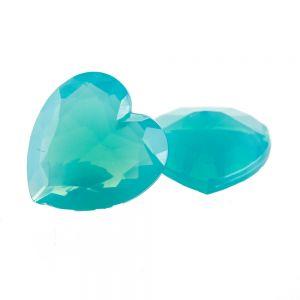 15x14 Herz körperstein in pfauenblau