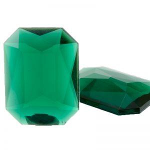 40x30 Octagon facettiert in grün