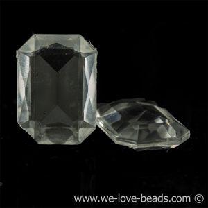 10x8 Octagon facettiert in kristall