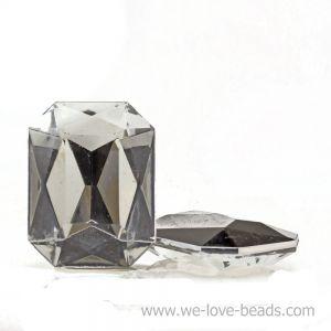 25x18 Octagon facettiert in kristall verspiegelt