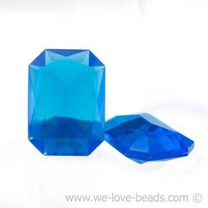 25x18 Octagon facettiert in nachtblau
