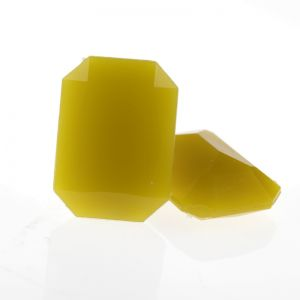 18x13 Octagon facettiert in honiggelb