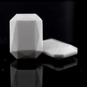 14x10 Octagon facettiert in weiß