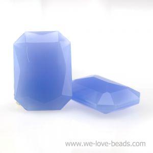 25x18 Octagon facettiert in veilchenblau