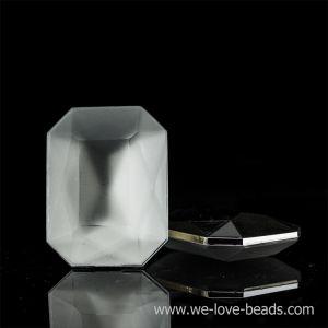 25x18 Octagon facettiert in kristall  verspiegelt matt
