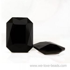 14x10 Octagon facettiert in schwarz