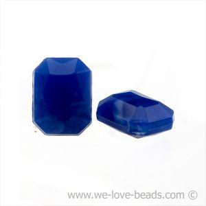 8x6 Octagon facettiert in ultramarinblau