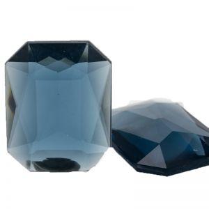 40x30 Octagon facettiert in alpengrau blau