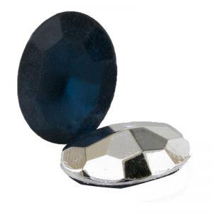 25x18 ovaler cabochon in himmelblau  verspiegelt matt