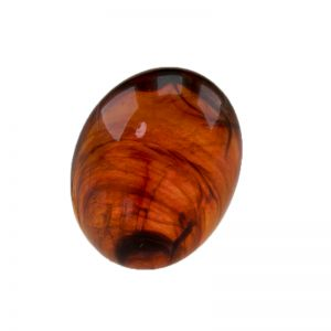 6x4 Cabochon oval in rotbraun