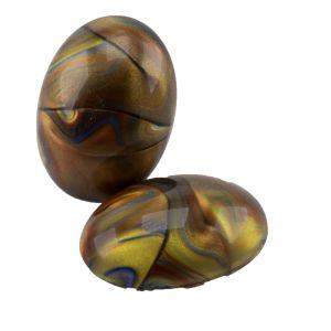 18x13 Cabochon oval in barock kupfer