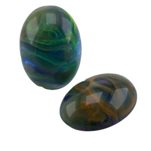 25x18 Cabochon oval in schlammgrün