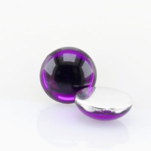10mm Cabochon in lila verspiegelt