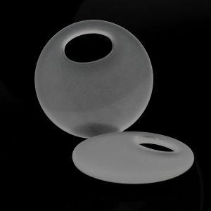 28mm Elypsen ring in kristall  Matt
