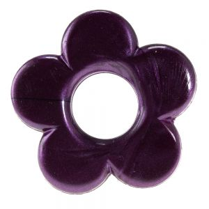 35mm Blume in Aubergin