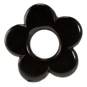 21mm Blume in schwarz