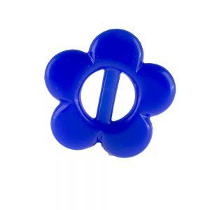 21mm Blume mit Steg in blau